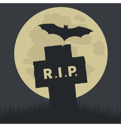 Simple Rest in Peace Icon Design vector image