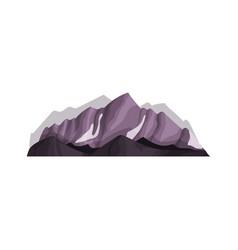 snow mountain outdoor design element nature vector image