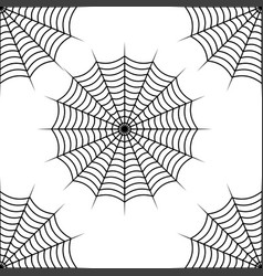 spider web seamless pattern design isolated on vector image