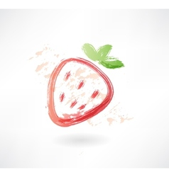 strawberry grunge icon vector image