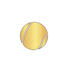 Tennis ball computer symbol vector