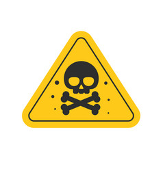toxic hazard risk sign or chemical danger triangle vector image