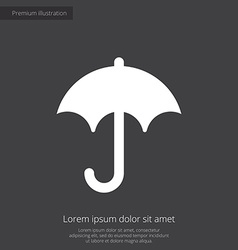 umbrella premium icon white on dark background vector image