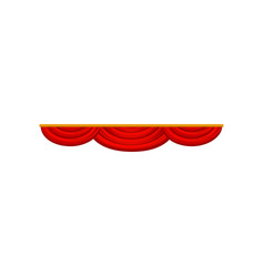 Velvet or velour pelmet bright red lambrequin for vector