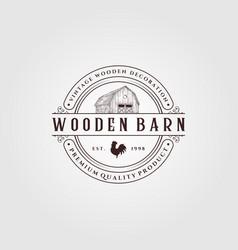 Vintage farmhouse logo design barn logo design vector