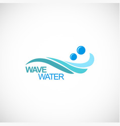 wave water logo vector image