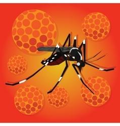 zika zica virus masquito aedes egyptian spread vector image