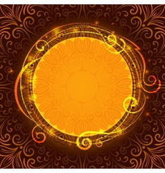 Abstract brown mystic lace background with swirl vector image vector image