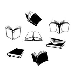Books icons and symbols vector image vector image