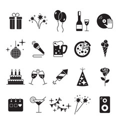Celebration and party icons with white background vector
