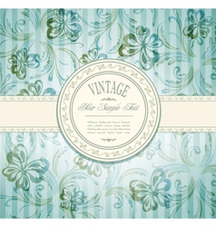 elegant vintage invitation vector image vector image
