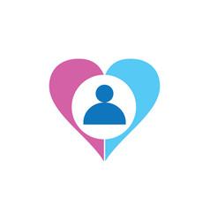 hearth people logo vector image