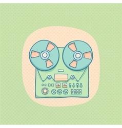 Reel-to-reel audio tape recorder vector image