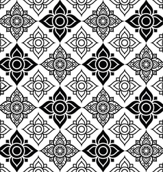Seameless Thai pattern with tradional flower shape vector image