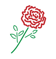 single rose color sign 209 vector image vector image