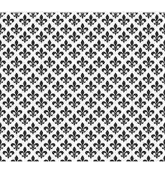Fleur de lis black and white seamless pattern vector image vector image