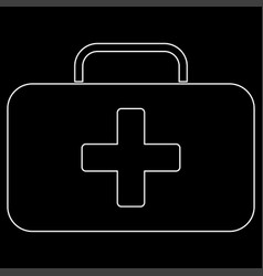 medical case the white path icon vector image vector image