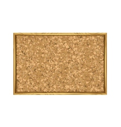Corkboard with Wooden Frame vector image
