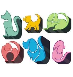 Dog Icon Symbol Set vector image