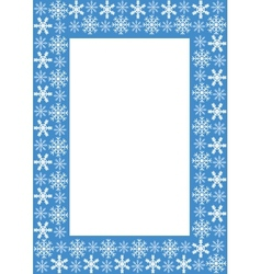 frame with snowflakes vector image