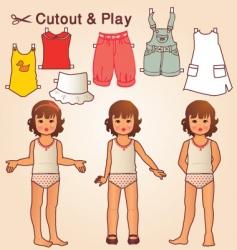retro doll vector image