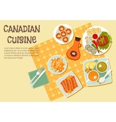 Canadian cuisine dishes for picnic or bbq icon vector image vector image