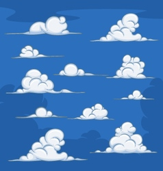 Daytime cartoon clouds vector image