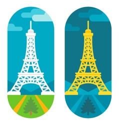 Flat design Eiffel tower vector image vector image