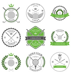Golf labels and icons set vector image vector image