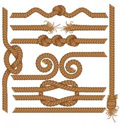 Rope borders vector