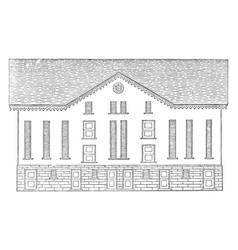 the pennsylvanian barn banked barn vintage vector image