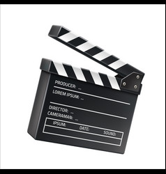 3d film clapboard movie shooting sign vector image