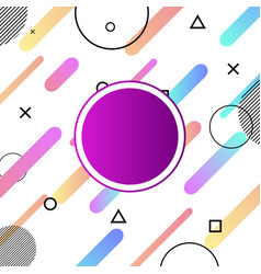 Abstract colorful shapes compositions background vector