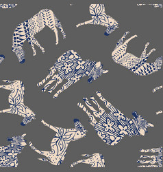 abstract colors zebra pattern seamless gray vector image