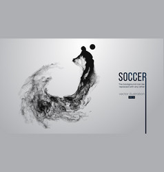 abstract silhouette of a football player on white vector image