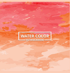 abstract watercolor splash red and orange vector image