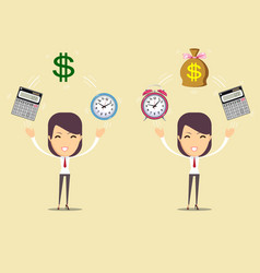 accountant at work savings finances and economy vector image