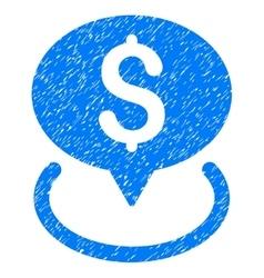 Bank Location Grainy Texture Icon vector