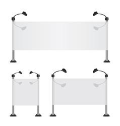 Billboard banner collection set vector image