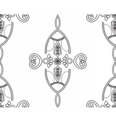 Black and white seamless geometric lace pattern vector