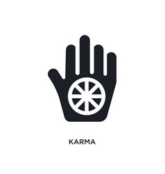 Black karma isolated icon simple element from vector