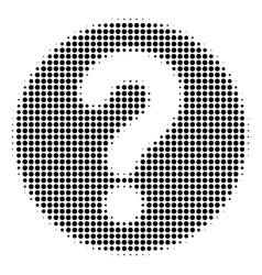 Black pixel query icon vector