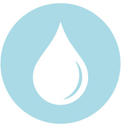 Blood droplet within a circle icon vector