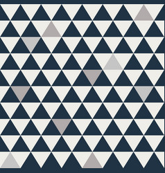 Blue and grey triangle seamless pattern vector