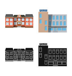 Building and front logo vector