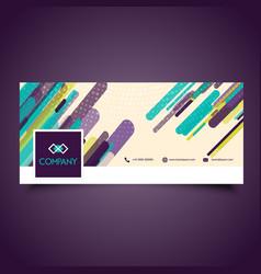 business facebook header design vector image