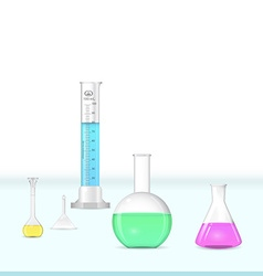Chemical lab glassware kit vector image