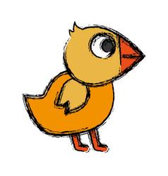 Chicken bird icon vector