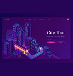 city tour travel double decker bus in town vector image