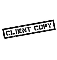 Client Copy rubber stamp vector image